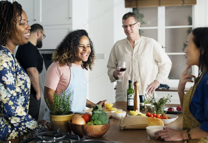 Thumbnail for Diverse people joining cooking class