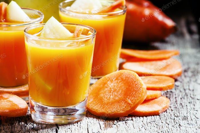 Apfel-Karotte frische Smoothies