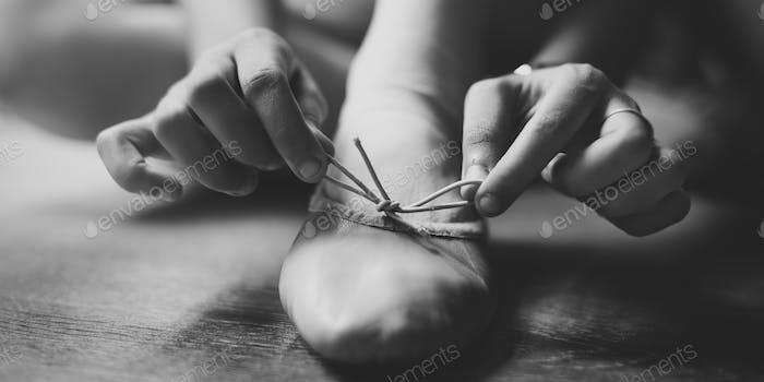 Woman Ballet Shoes Innocent Concept