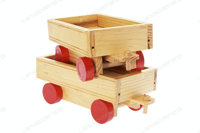 Wooden Toy Carts