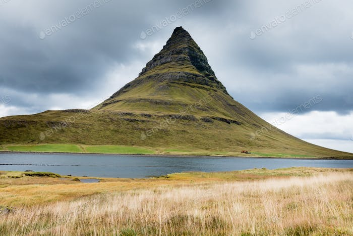 Kirkjufell mountain on Snaefellsnes peninsula Iceland