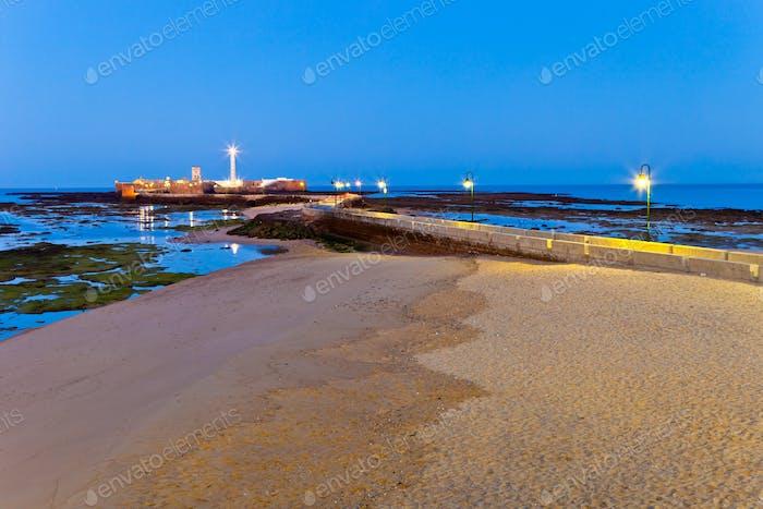 Strand von La Caleta von Cadiz
