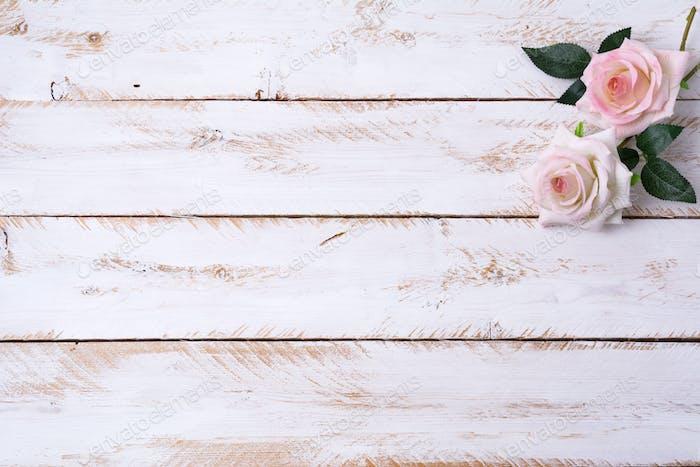 Feiertagseinladung mit rosa Rosen, Kopierraum