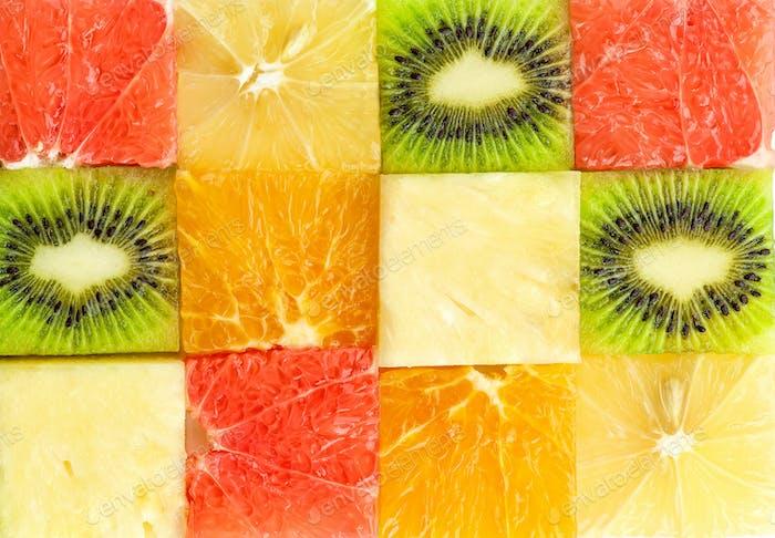 verschiedene Fruchtstücke