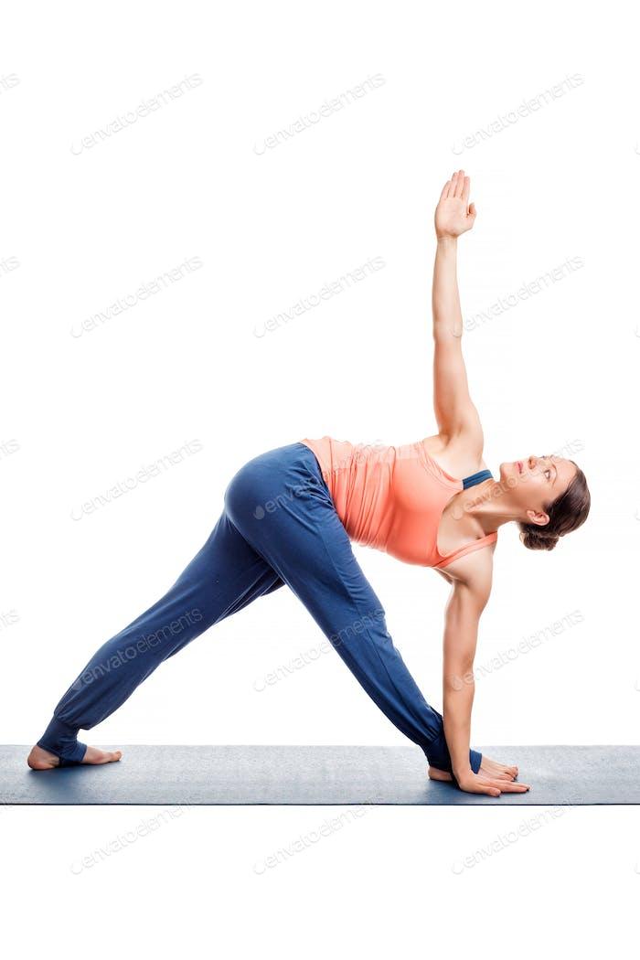 Woman doing Ashtanga Vinyasa yoga