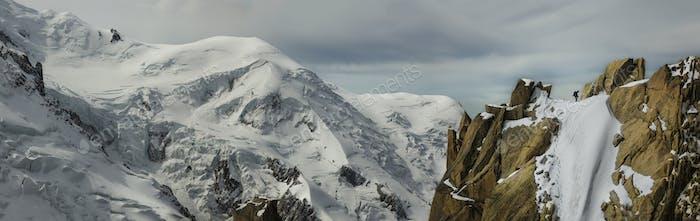 54502,Mountaineers near Mt. Blanc, Chamonix, France