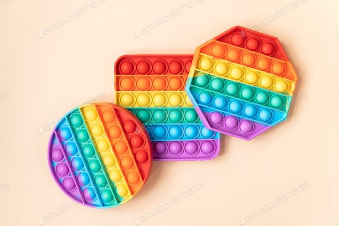 Rainbow Pop It Bubble Sensory Fidget Toy