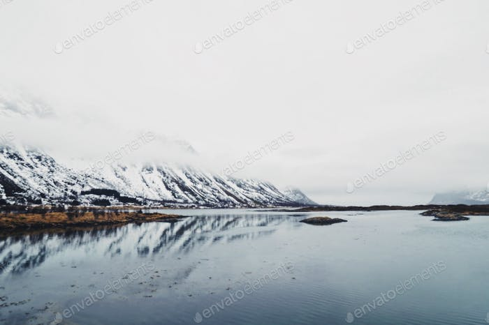 Reflected fjord.