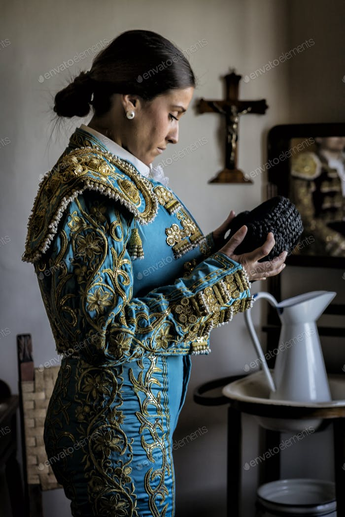 Room prepared to dress torero before you go to Bullring, taken in Seville, Spain