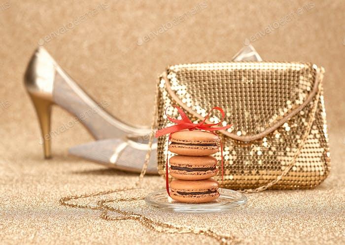 Macarons, handbag