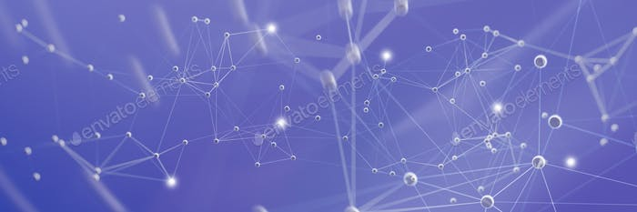 Molecular structure, abstract science background. 3d illustration