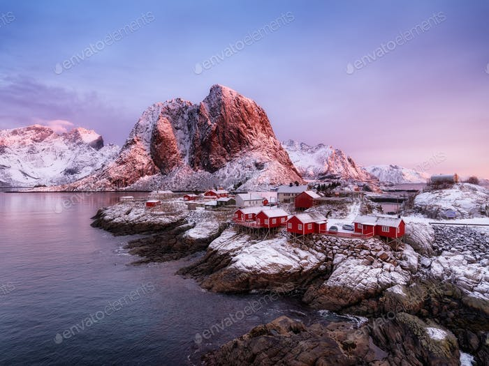 Famous place on the Lofoten island, Norway