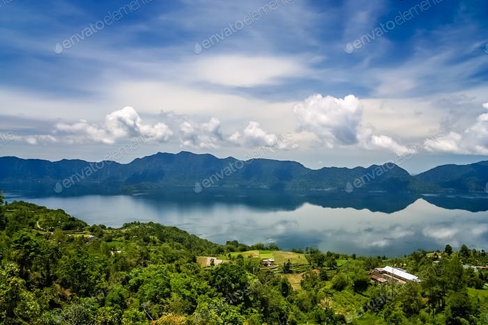 Lake Maninjao in Sumatra