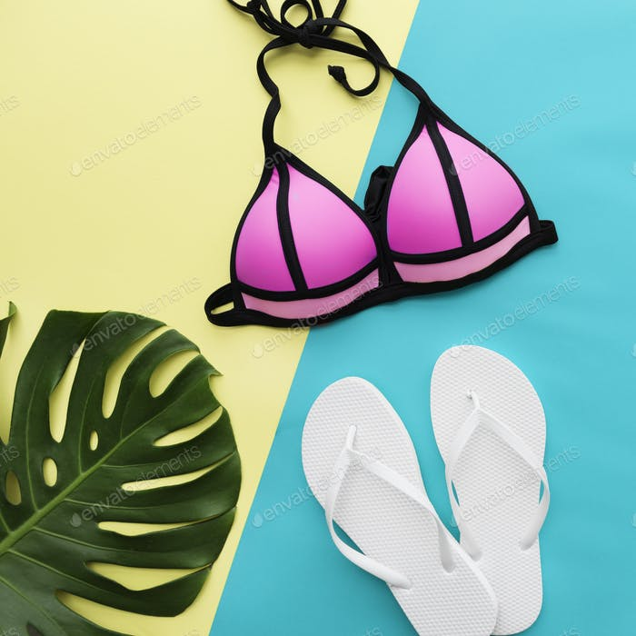 Beach Summer Holiday Vacation Bikini Swimwear Concept