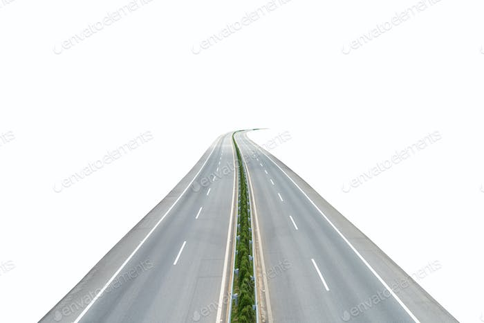 highway isolated on white