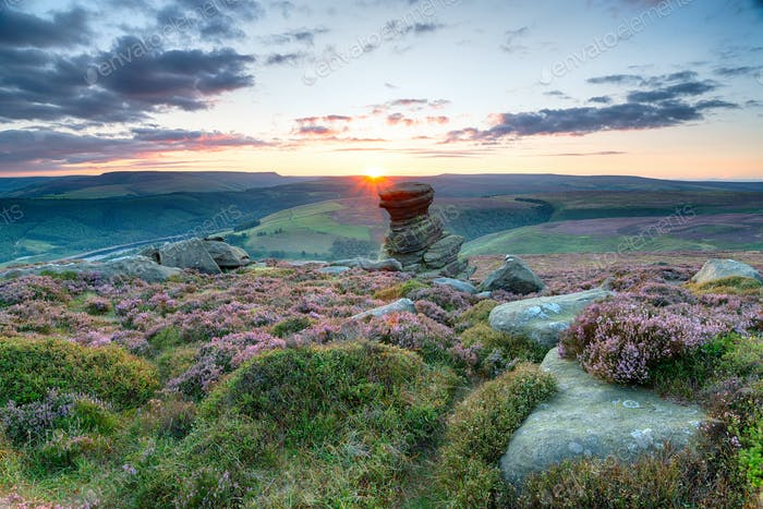 Sunset on Derwent Edge