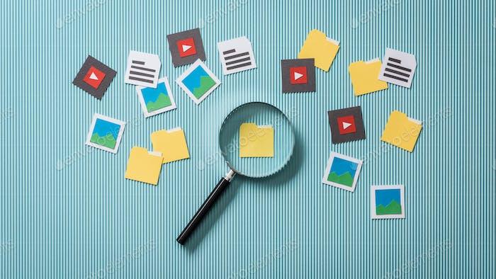 Búsqueda y análisis de archivos