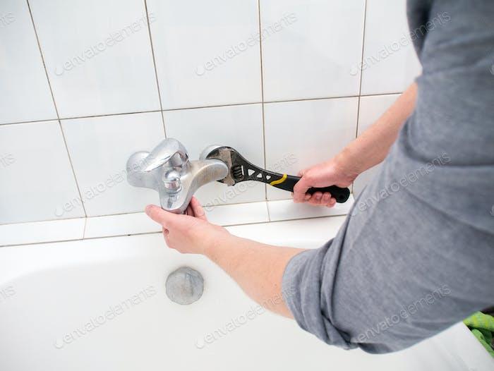 Grifo de desinstalación del fontanero