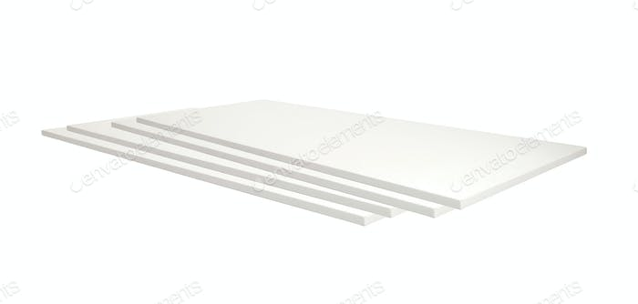 Wooden planks On a white background