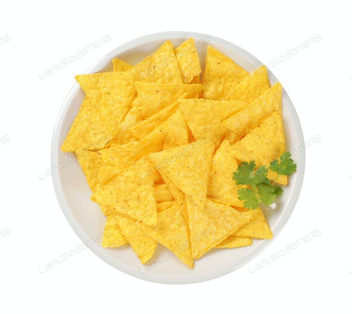 crunchy tortilla chips