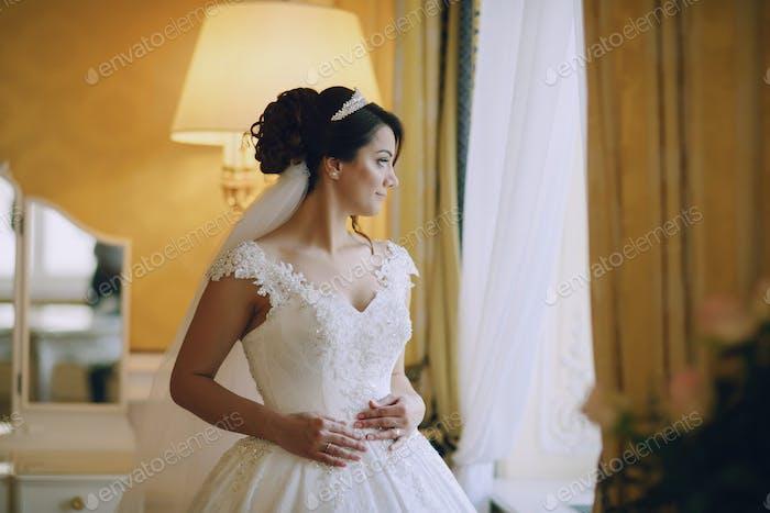 Bride in crown