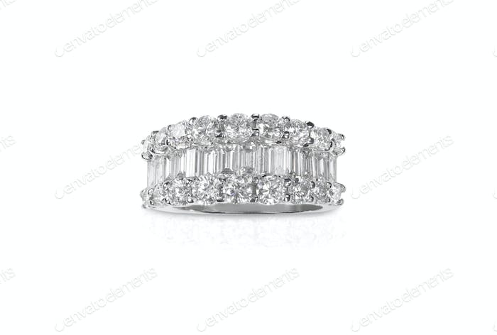 Beautiful diamond ring with diamonds
