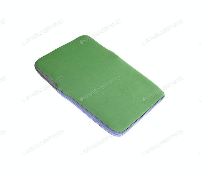 Laptop case isolated on white background