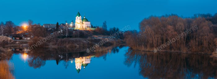 Gomel, Weißrussland. Panorama von Kirche St. Nikolaus Das Wunderwerk
