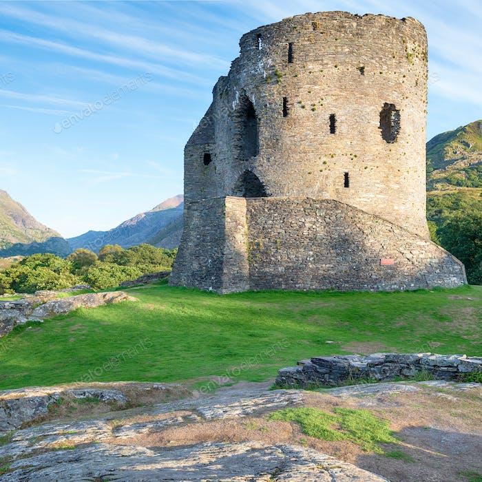 Dolbadarn Castle Ruins in Wales