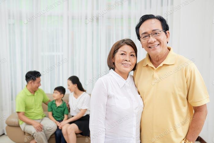 Joyful senior couple