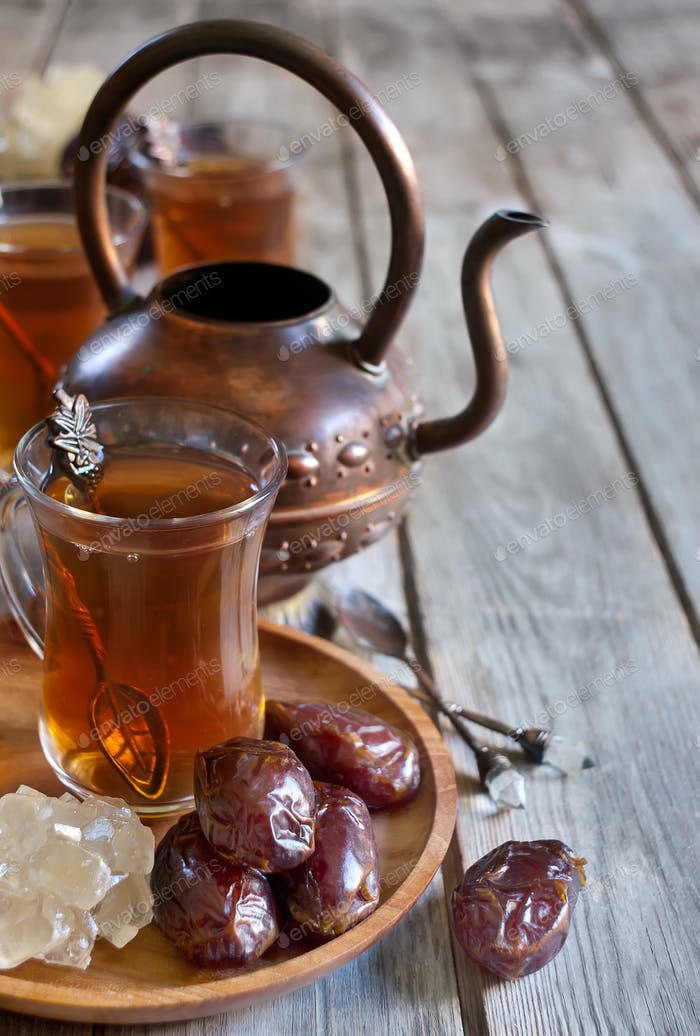 Thumbnail for Arabic tea and dates background