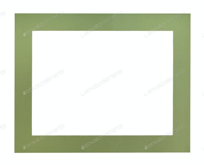 wide flat green passe-partout for picture frame