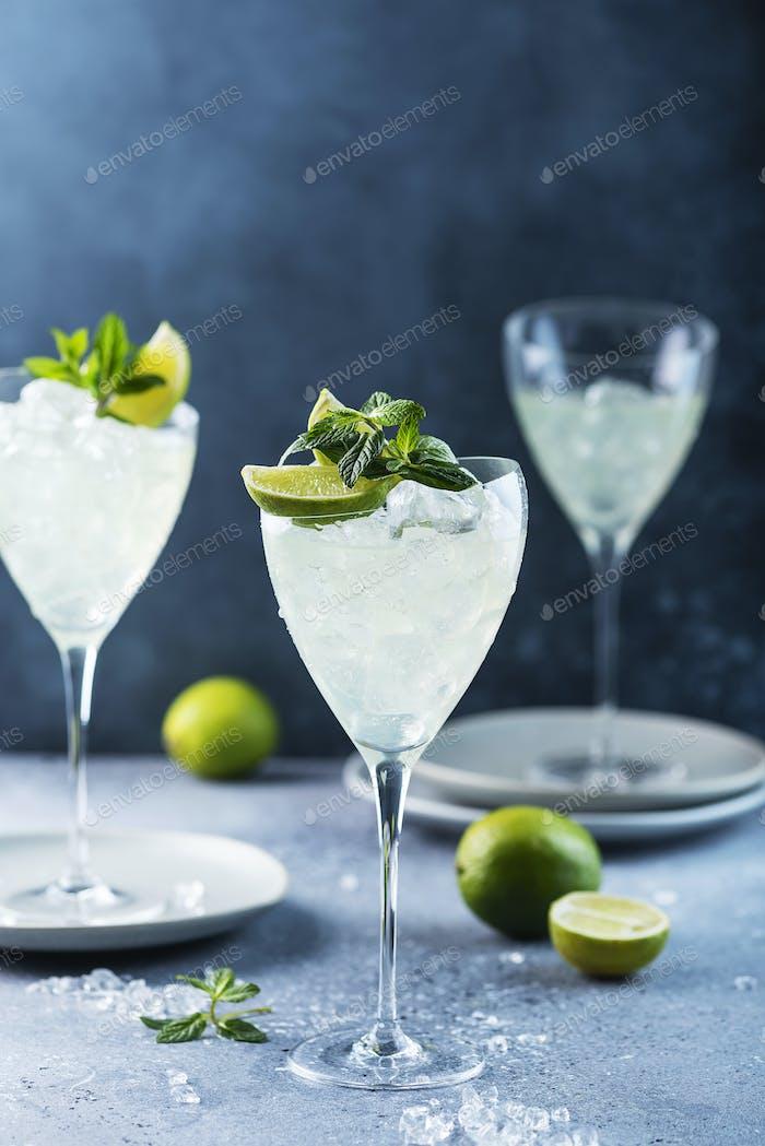 Summer cocktail mojito