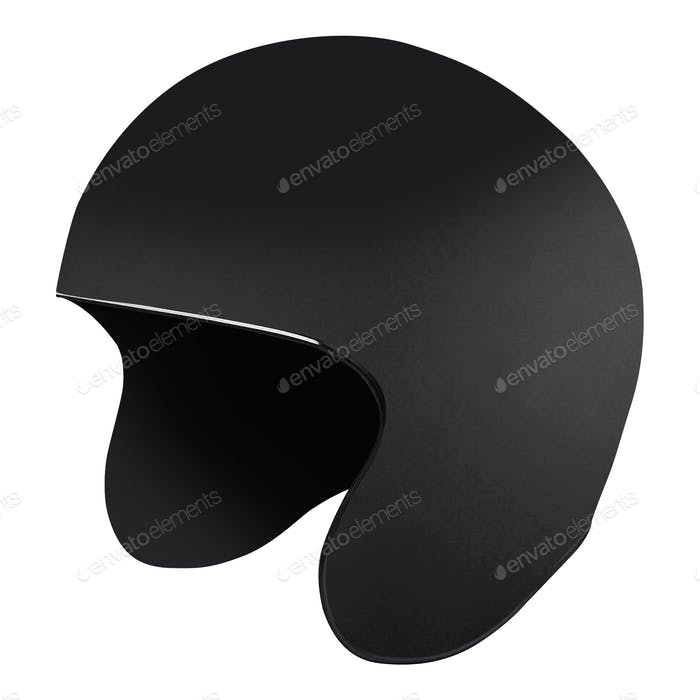 Black helmet Isolated on white background