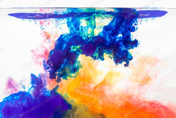 mix colours in water