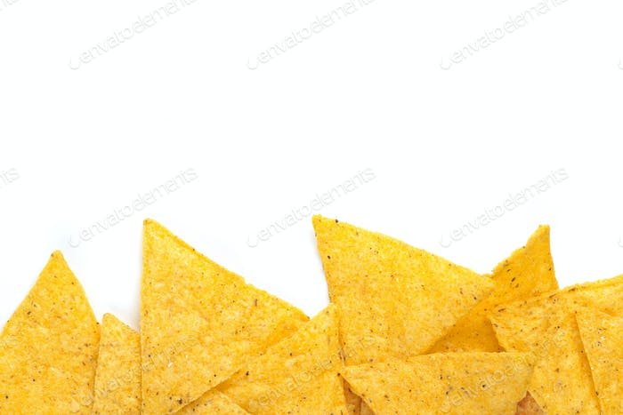 Rand der Tortilla-Chips
