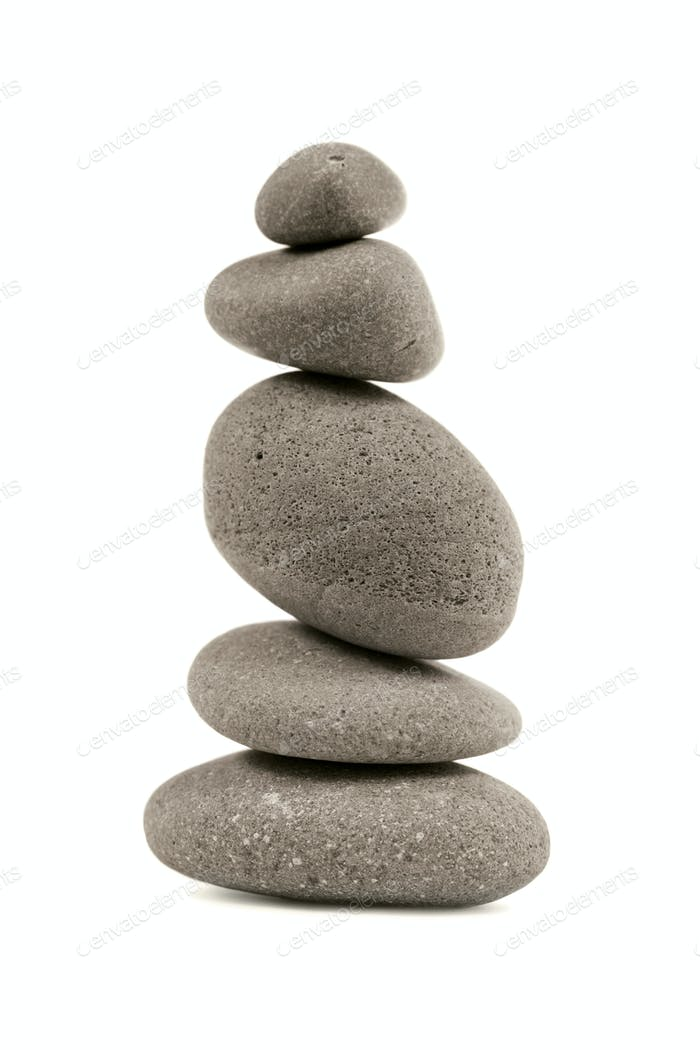 The pyramid of pebbles.