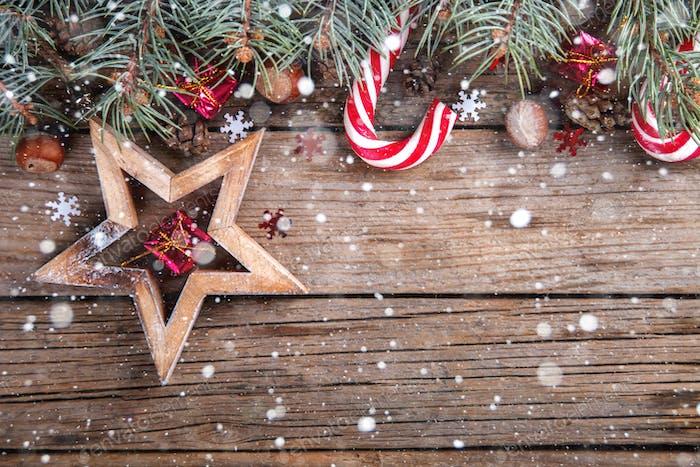 Weihnachts-Neujahrskarte.