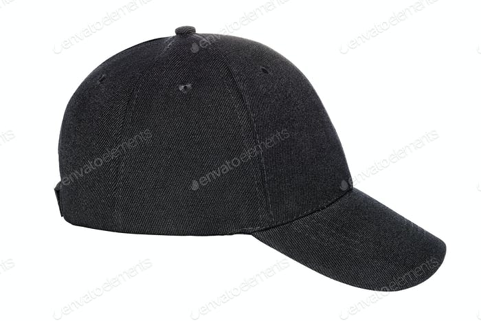 Black baseball cap isolated