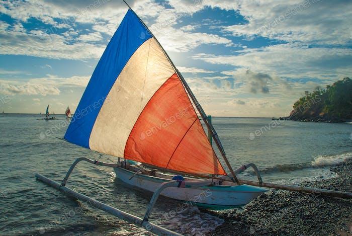 Balinese Jukung fishermen