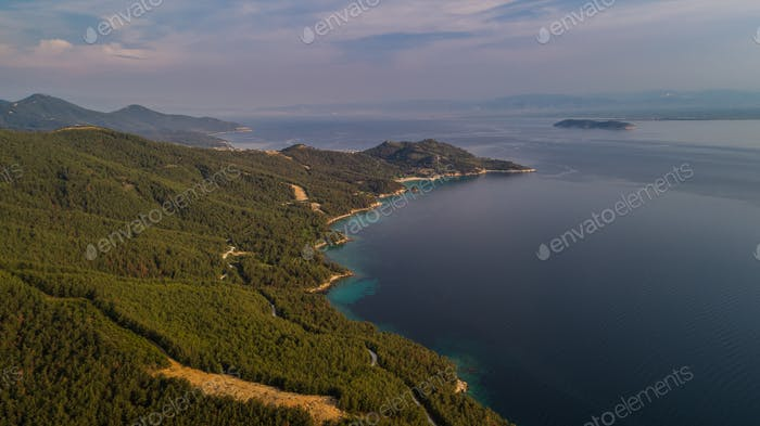 aerial view of the Thassos