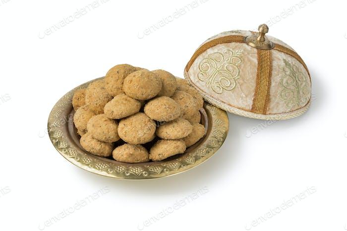 Traditional festive ghoriba cookies