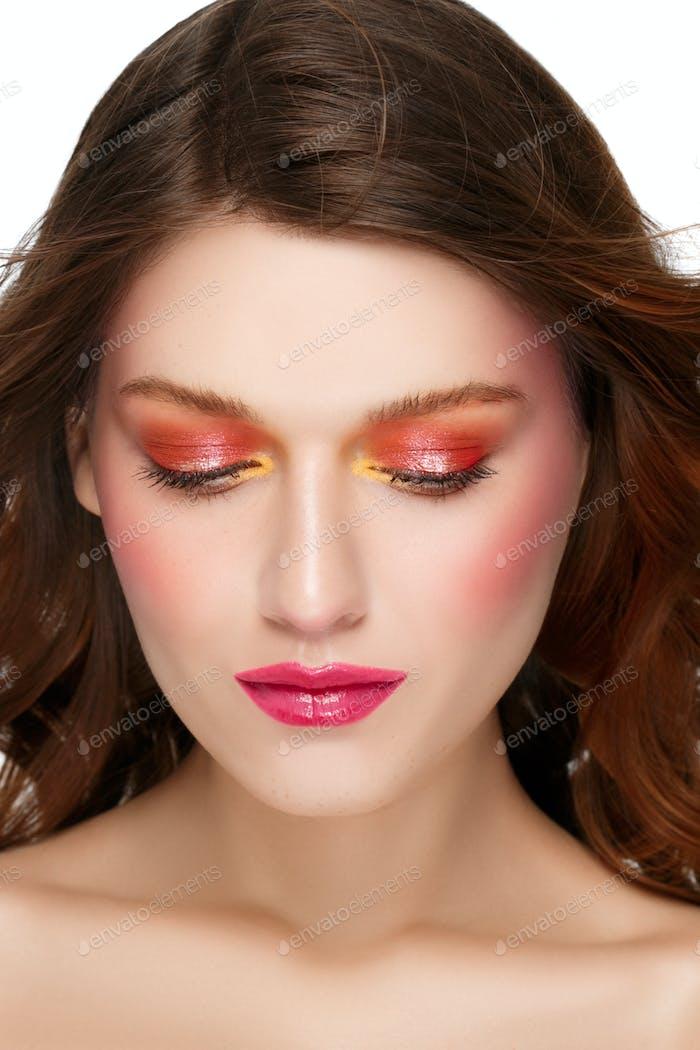 Color make up art beauty face natural healthyskin and hair