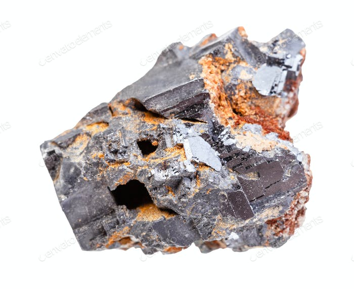 raw Galena (Galenite, lead glance) rock isolated