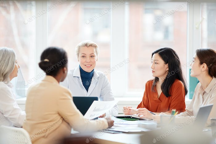 Multi-Ethnic Group of Women at Business Meeting