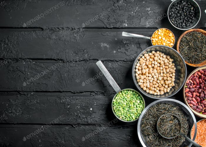 Healthy food. Assotriment of legumes.
