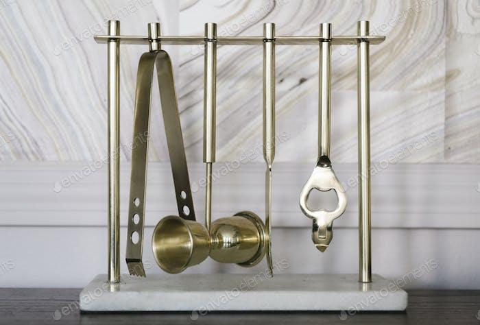 Brass bar utensils