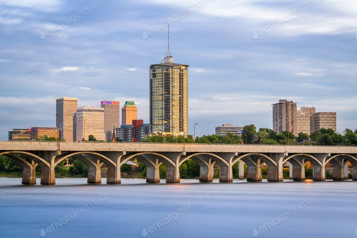 Tulsa, Oklahoma, USA on the Arkansas River