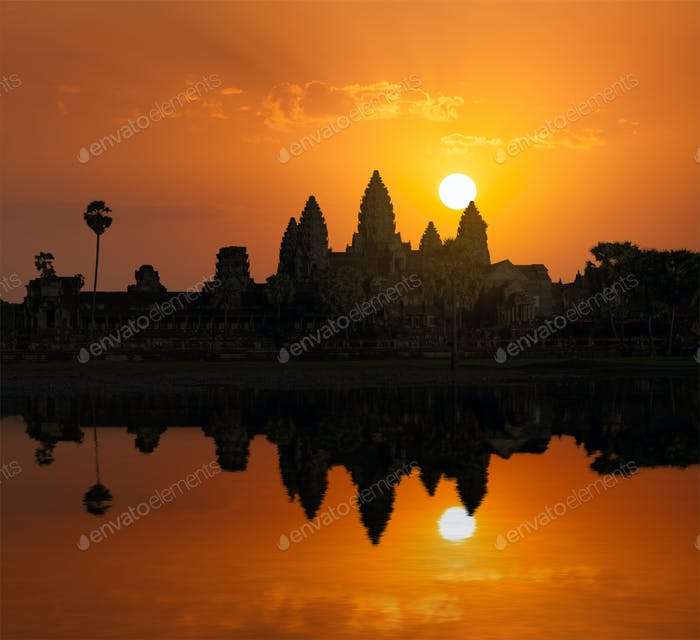 Angkor Wat on sunrise