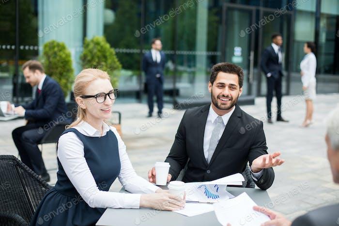 Beratung bei der Besprechung